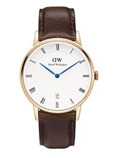 16ffda567f03 Daniel Wellington BRISTOL Dapper DW00100094 Rose Gold 34mm Watch Brown  Leather -- You can find