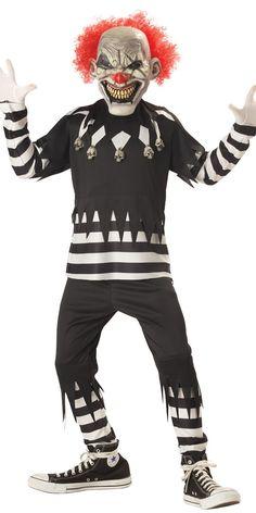 Halloween Costume Garçon Costume de Clown effrayant pour enfants