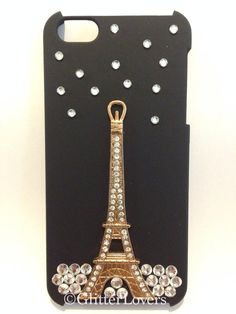 Eiffel Tower crystal iPhone 5 case on Etsy, $20.00