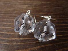 dice earrings see through transparent by MageStudio on Etsy D20 Dice, Diamond Earrings, Stud Earrings, Elvish, D 20, See Through, Anna, Geek Stuff, Fandom
