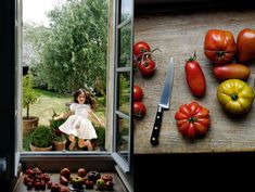 gorgeous tomatoes and a crisp white sundress