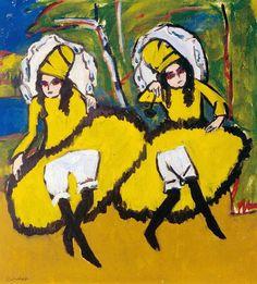 Ernst Ludwig Kirchner: Zwei Tänzerinnen, 1910/11 - Franz Marc Museum, Kochel am See Dauerleihgabe aus Privatbesitz, © Medienzentrum Wuppertal
