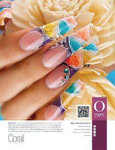Gretel Chacón/ ProMaster Organic Nails Ballet Nails, Ballerina Nails, Coffin Nails Long, Long Nails, Organic Nails, Gelish Nails, Acrylic Nail Art, Nail Art Galleries, Nail Trends