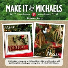 Make it with Michaels Holiday Pinterest Party DIY glittered paper ornaments