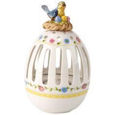 Spring Decoration Teelichthalter Ei mit Vögelchen 15cm - Villeroy & Boch