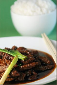 Mongolian Beef - Serve over warm rice. Excellent reviews!