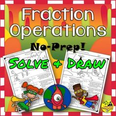 Fraction Operations No Prep Printables