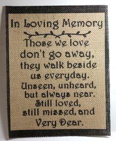 Rustic Country CHIC Burlap Wedding Sign IN LOVING MEMORY THOSE WE LOVE 8x10  #RUSTICROOTDESIGNSVIASTUFFcc