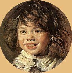 웃고 있는 아이 - 프란스 할스  1620-1625. 마우리츠하이스 왕립미술관.