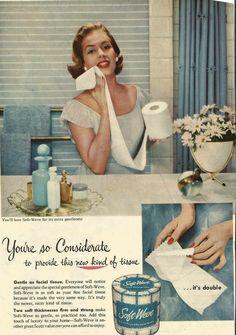 Vintage Toliet Paper Ad