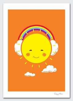 Rainbow Song by flyingmouse365 on Etsy, $30.00