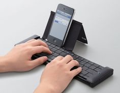Teclado de bolso universal Bluetooth para tablets e smartphones