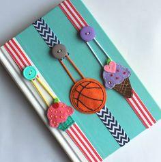 Pick ANY 2 Bookmarks Elastic Ribbon Bookmark Erin by BabyWhatKnots: