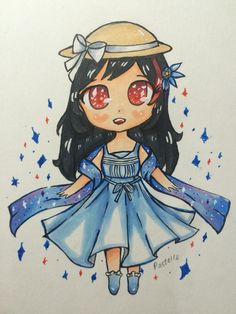 More chibis because I love chibis! This is a part of an art trade
