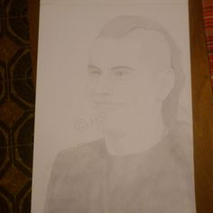 M Shadows, Matthew Sanders, Avenged Sevenfold (really crappy photo of the drawing)