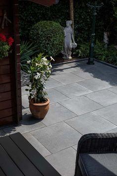 Tuintegels :: Geoceramica :: Geoceramica Rocia Carbon 60x60x4 cm - Lek Tuinmaterialen