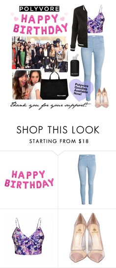 """""""Happy Birthday, Polyvore!"""" by polyvore ❤ liked on Polyvore featuring bkr, Ally Fashion, Semilla, LE3NO and happybirthdaypolyvore"""