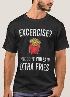 And Large Fries Funny T-shirt Secret Santa 7 colours Thick Thighs