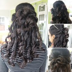 Today's prom hairstyle for my lovely client Prom Hair, Dreadlocks, Hairstyle, Makeup, Models, Beauty, Business, Hair Job, Make Up