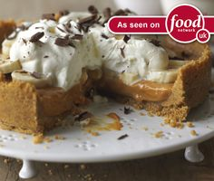 Banoffee Pie, How to Make Banoffee Pie, Easy Banoffee Pie - Quick Banoffee Pie | Nestlé Carnation. I used ginger biscuits. Yummm!
