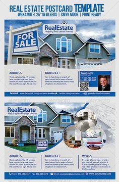 #Real #Estate Template - #Flyers P#rint #Templates Download here: https://graphicriver.net/item/real-estate-template/6747927?ref=alena994