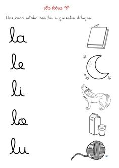 Fichas letras d y l Spanish Lessons For Kids, Teaching Spanish, Speech Language Therapy, Speech And Language, Preschool At Home, Preschool Activities, Pre Writing, I School, Ms Gs