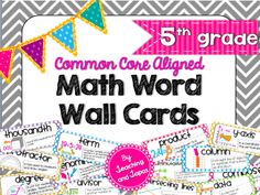 How To Use a Math Word Wall