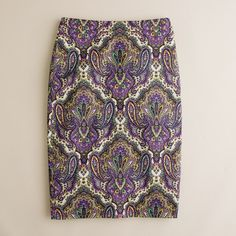 Have it! : )  No. 2 pencil skirt in royal paisley