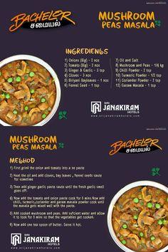Mushroom Peas Masala -  A Healthy & easy recipe of a delicious gravy made with the goodness of peas and mushroom.   #srijanakiram #Bachelor #samayal #gravy #mushroom #peas #masala