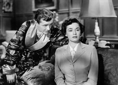 "Ruth Roman & Robert Walker in Hitchcock's ""Strangers on a Train"", 1951"