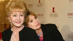 Debbie Reynolds (01/04/1932-28/12/2016) with daughter, Carrie Fisher (21/10/1956-27/12/2016)