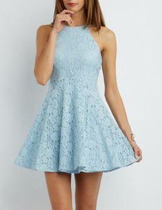 Floral Lace Skater Dress #CharlotteLook