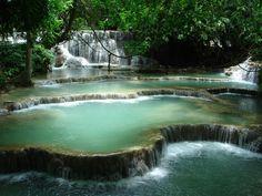 Luang Prabang - waterfalls, bathing pools, and caves