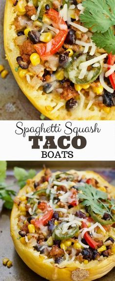 These super easy Mexican Spaghetti Squash Boats are loaded with flavor and have quite a kick! They are healthy and packed with veggies and lean turkey!