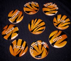 Tiger Cookies Fancy Cookies, Cut Out Cookies, Royal Icing Cookies, 10 Birthday Cake, 10th Birthday Parties, Tiger Cookies, Tiger Cake, Football Cookies, Safari Party