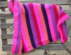 Knitted baby blanket Nursery bedding Nursery by KennaInAfrica Knitted Baby, Baby Knitting, Nursery Bedding, Nursery Decor, Baby Shower Gifts, Baby Gifts, Swaddle Blanket, Knitted Blankets, Pink Purple