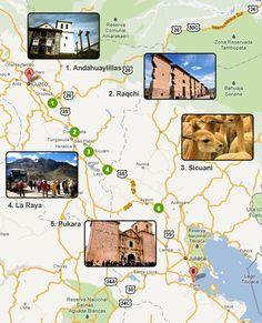 Cusco to Puno Map