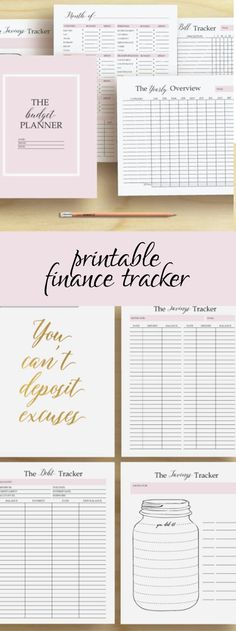 Financial tracker, budget planner and motivational quotes!