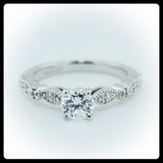 Such a pretty delicate ring :) https://www.etsy.com/listing/109481959/vintage-style-engagement-ring-diamond