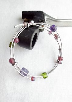 Recycled Bicycle Cable Bicycle Jewelry  by Winterwomandesigns, $27.00