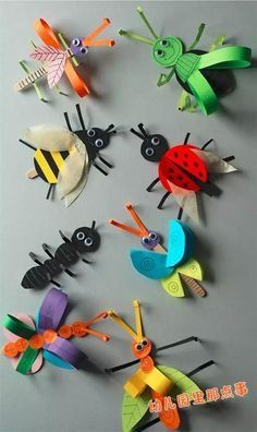 Crafts For Girls, Diy For Kids, Arts And Crafts, Paper Crafts, 3d Paper, Insects For Kids, Origami Insects, Insect Crafts, Bug Crafts