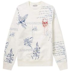 Buy the Alexander McQueen Embroidered Skull & Explorer Print Sweat in White & Mix from leading mens fashion retailer END. - only Fast shipping on all latest Alexander McQueen products Shirt Print Design, Shirt Designs, Custom Clothes, Diy Clothes, Alexander Mcqueen, Aesthetic Shirts, Embroidery On Clothes, White Outfits, Fashion Details
