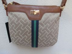 Bag Tommy Hilfiger Handbags Sm XBody 6912762 235 Beige Brown Blue Green Gold #TommyHilfiger #MessengerCrossBody