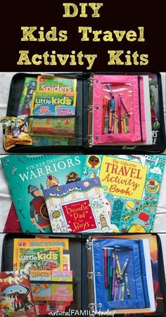Keep the kids busy on long car rides and road trips with these DIY Kids Travel Activity Kits. They will thank you for it!