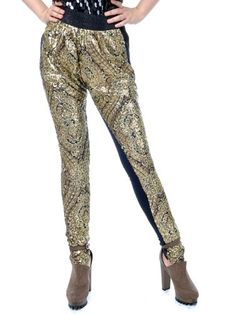 Anna-Kaci S/M Fit All Over Gold Sequin Flashy « Impulse Clothes