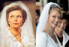 Archduchess (former Princess of Luxembourg) Marie Astrid of Austria in 1982 and her daughter Archduchess Marie Christine of Austria, Countess of Limburg-Stirum  in 2008.