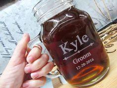 Set of 10 Personalized Wedding Mason Jar with by weddingpartygifts