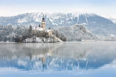 Lake Bled is a popular destination in Slovenia. While its popularity peaks during the warmest months, its landscape becomes magical during winter.