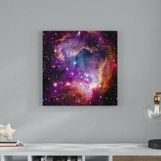 Wrought Studio 'Magellanic Cloud' Hubble Space Telescope Giclee Photographic Print on Wrapped Canvas Size: H x W Telescope Craft, Hubble Space Telescope, Andromeda Galaxy, Canvas Fabric, Canvas Canvas, Brown And Grey, Gray Green, Retro, Canvas Size