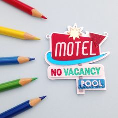 Motel Retro Sign Necklace | hand over your fairy cakes